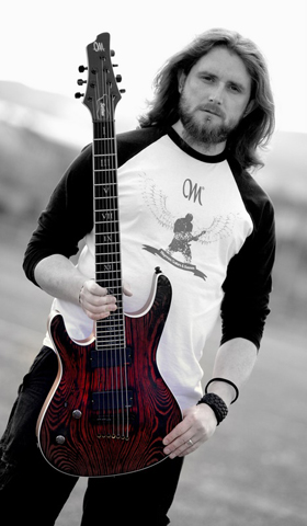 Gareth holding his Mayones custom built Setius 7